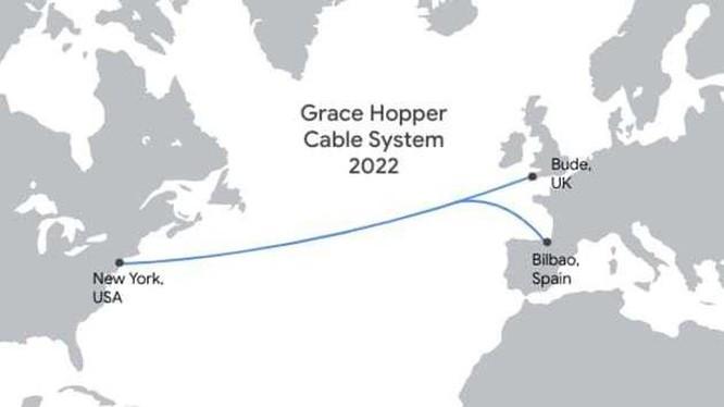 Google xây tuyến cáp quang biển mới nối Anh, Mỹ, Tây Ban Nha ảnh 1