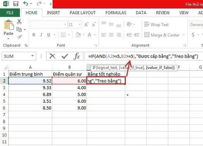 Hướng dẫn sử dụng hàm IF trong Excel ảnh 5
