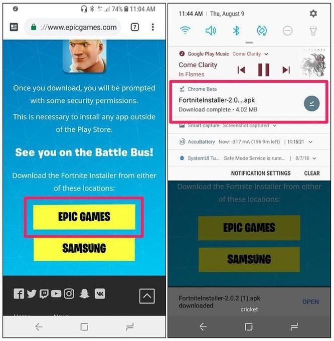 Cách tải game Fortnite về Android không qua Google Play Store ảnh 1