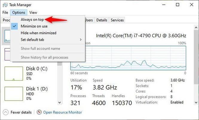 Hướng dẫn theo dõi hiệu suất chạy Windows 10 liên tục bằng cửa sổ nổi ảnh 2
