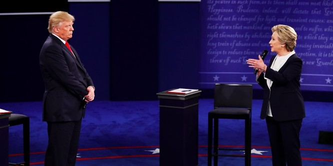Ông Trump và bà Hillary trong cuộc quyết đấu trực tiếp lần hai