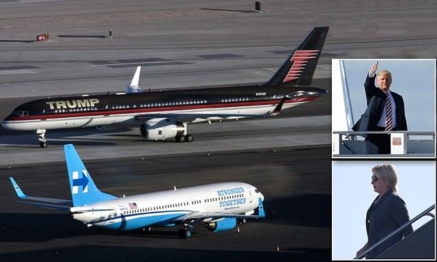 Máy bay đưa hai đối thủ tới Las Vegas chuẩn bị cho cuộc đấu cuối cùng hứa hẹn sẽ gay cấn