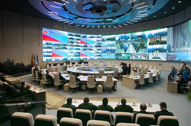 Một phòng thuộc trung tâm chỉ huy tác chiến quân đội Nga chịu trách nhiệm về chiến dịch quân sự tại Syria