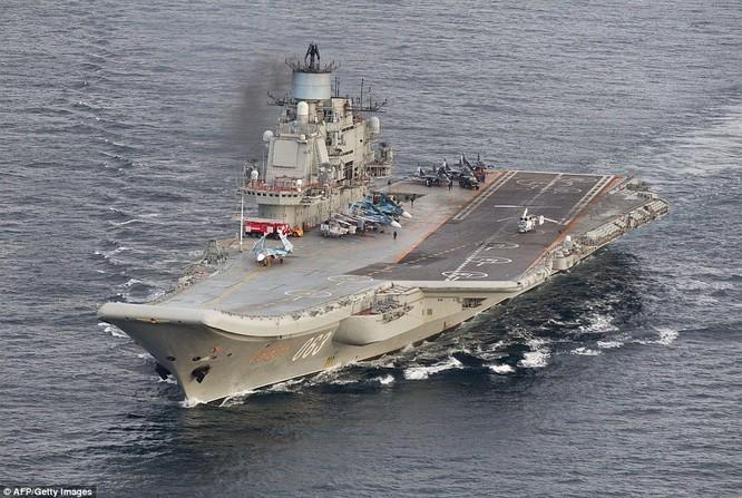 Cụm tác chiến tàu sân bay Nga đang trên đường tới Syria