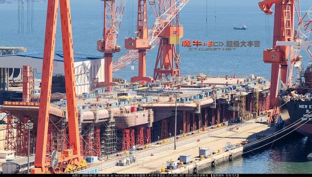 Tàu sân bay Type 001A của Trung Quốc sắp hoàn thiện tại xưởng đóng tàu Đại Liên