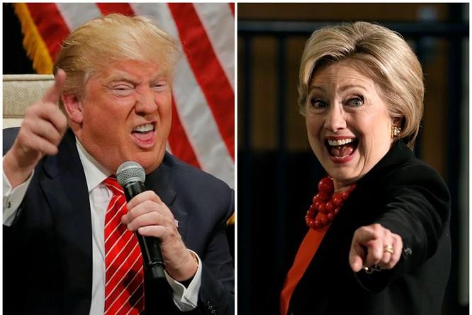 Cuộc đấu giữa bà Clinton và ông Trump kịch tính đến phút chót