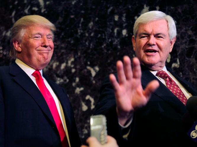 Ông Trump và đồng minh Newt Ginghrich