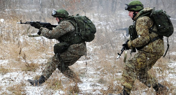 Binh sĩ Nga hiện nay được trang bị rất đầy đủ và hiện đại