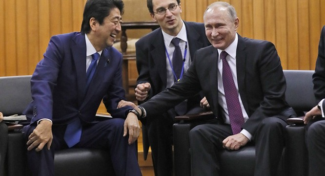 Nga và Nhật Bản gần đây đang có những chuyển động xích lại gần nhau