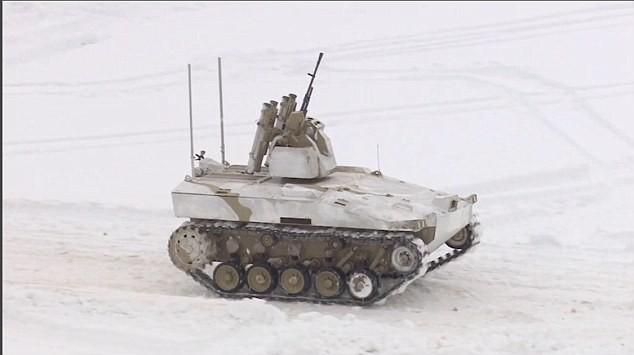 Xe tăng mini không người lái của Nga
