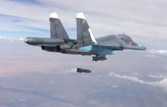 Cường kích Su-34 tấn công mục tiêu phiến quân tại Syria