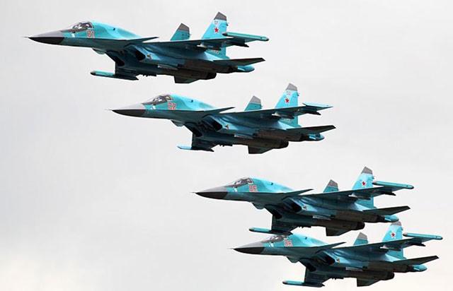 Phi đội chiến đấu cơ Su-34 của Nga