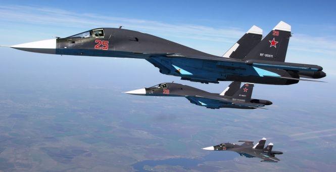 Phi đội cường kích Su-34 Nga tham chiến tại Syria