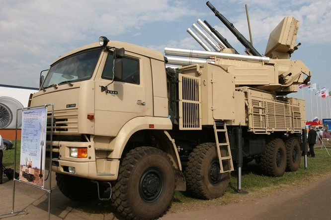 Hệ thống phòng không tầm gần Pantsir của Nga