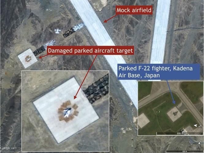 Mục tiêu giả định bị tên lửa Trung Quốc bắn phá mô phỏng các khẩu đội tên lửa Patriot triển khai tại căn cứ không quân Kadena của Mỹ ở Nhật Bản