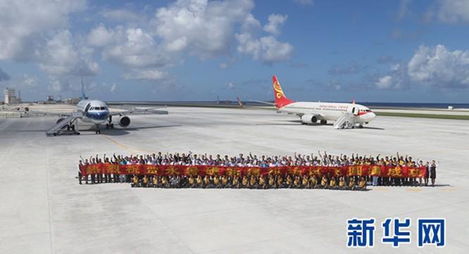 Máy bay Trung Quốc hạ cánh trái phép xuống Đá Chữ Thập ở quần đảo Trường Sa