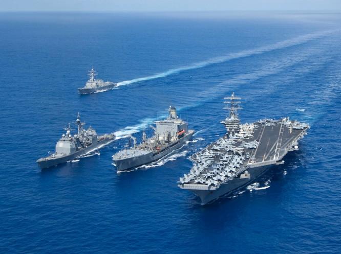 Cụm tác chiến tàu sân bay Mỹ thường trực ở châu Á-Thái Bình Dương là lời nhắc nhở của Mỹ đối với những cái đầu nóng