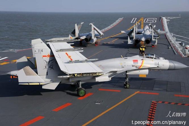 Tàu sân bay Liêu Ninh của Trung Quốc vừa trải qua đợt tập trận trên Biển Đông