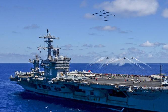Cụm tác chiến tàu sân bay Carl Vinson của Mỹ đang tuần tra thực thi tự do hàng hải ở Biển Đông từ ngày 18/2/2017
