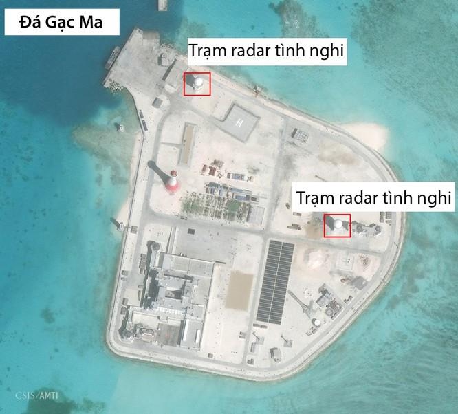 Trung Quốc đã triển khai phi pháp nhiều vũ khí, thiết bị quân sự trên Đá Gạc Ma ở quần đảo Trường Sa