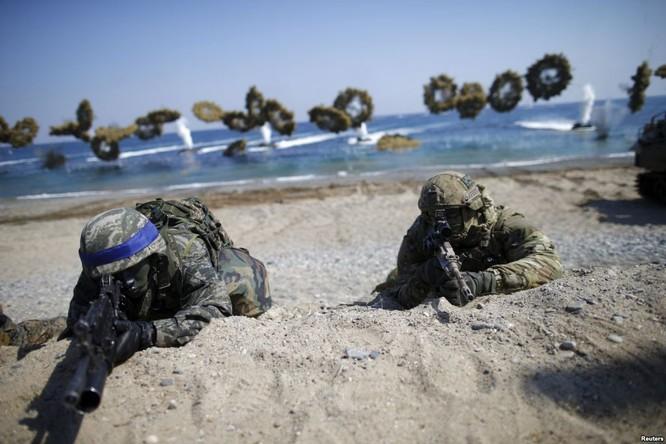 Mỹ đang tập trận rầm rộ cùng đồng minh Hàn Quốc trong bối cảnh Đông Á có diễn biến nóng