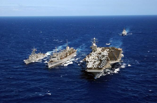 Cụm tác chiến tàu sân bay Carl Vinson của Mỹ vừa tuần tra thực thi tự do hàng hải ở Biển Đông từ ngày 18/2/2017
