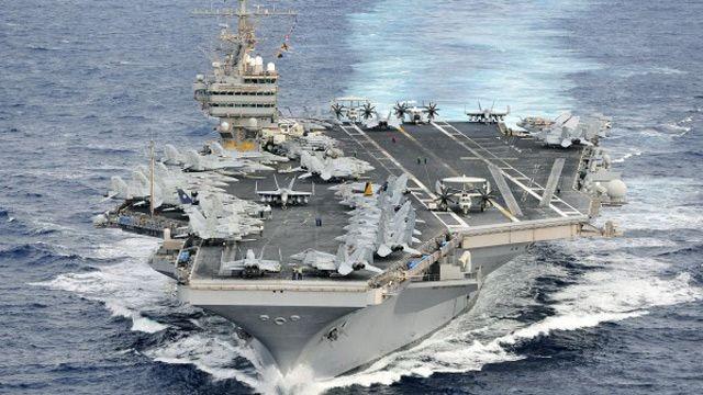 Cụm tác chiến tàu sân bay Mỹ cũng đang tập trận với quân đội Hàn Quốc