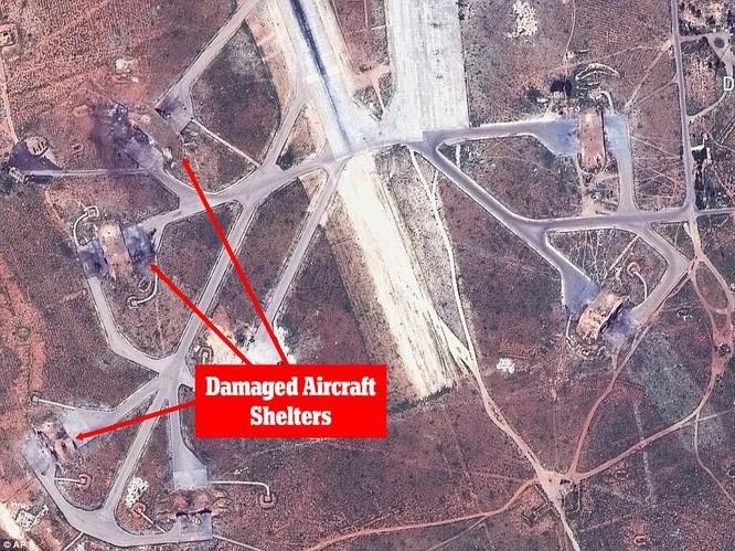 Một số mục tiêu bị tấn công tại căn cứ không quân Syria