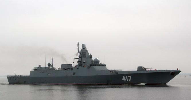 Khu trục hạm Đô đốc Gorshkov mang tên lửa hành trình tầm xa Kalibr sẽ trở thành yếu tố hạt nhân trong hạm đội hải quân Nga