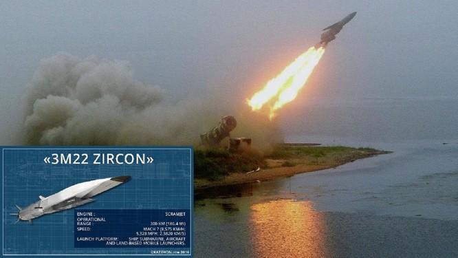 Tên lửa siêu thanh Zircon của Nga được cho là đạt vận tốc hành trình tới 8 mach