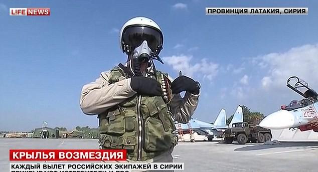 Phi công Nga tham gia chiến dịch quân sự chống khủng bố tại Syria