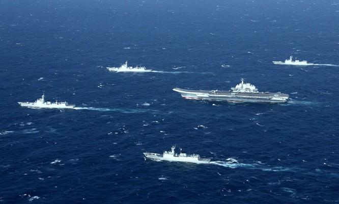 Trung Quốc thành lập cụm tác chiến tàu sân bay rập khuôn mô hình Mỹ