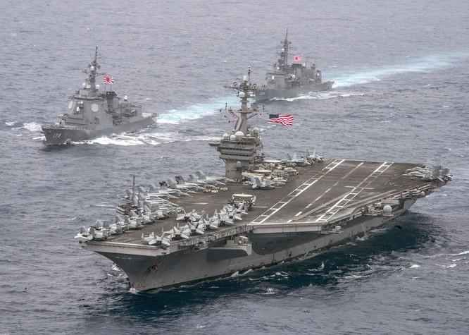 Cụm tàu chiến và tàu sân bay của Mỹ ở Vùng Vịnh đã sẵn sàng cho đòn tấn công phủ đầu Syria.