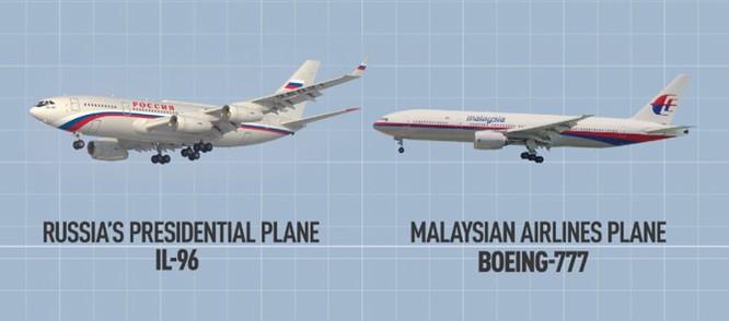 Chuyên cơ của ông Putin và chiếc máy bay xấu số của hãng hàng không Malaysia