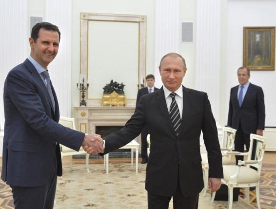 Tổng thống Putin gặp gỡ tổng thống Syria Assad
