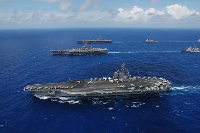 Cụm tác chiến tàu sân bay Mỹ luôn thường trực tại các điểm nóng