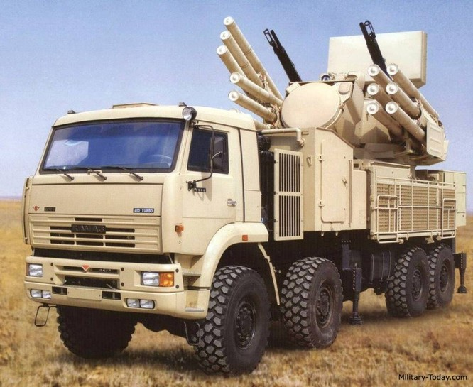 Hệ thống phòng thủ tầm gần Pantsir-S1 đã được Nga triển khai tại Syria