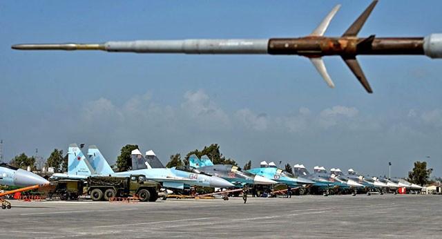 Dàn chiến đấu cơ của Nga tham gia chiến dịch chống khủng bố tại Syria