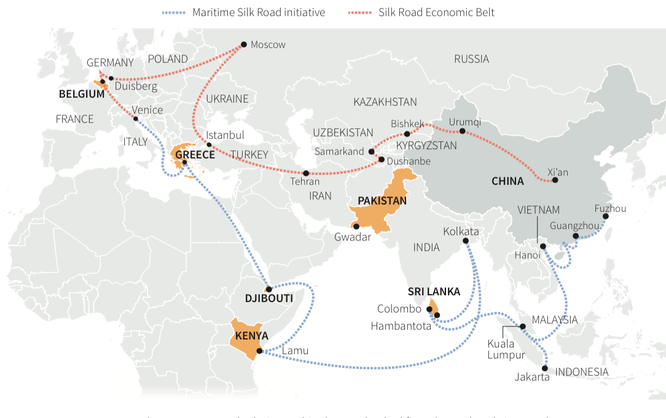 Trung Quốc nuôi tham vọng hồi sinh con đường tơ lụa hoàng kim thuở nào