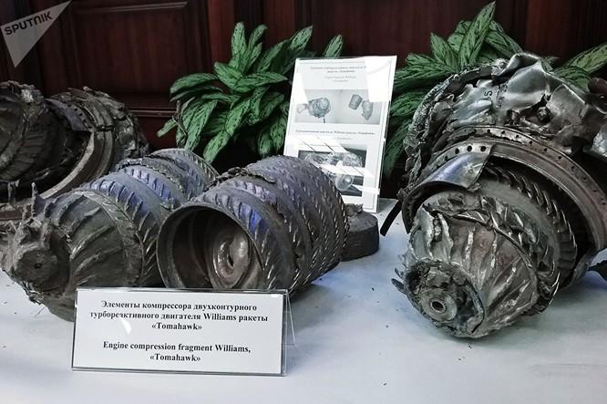 Bộ Tổng tham mưu Nga cho thấy mảnh vỡ của tên lửa hành trình ở Syria