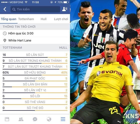 Cập nhật tin tức, tỉ số bóng đá bằng Facebook ảnh 3