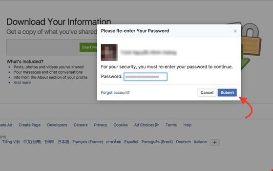 Mẹo sao lưu toàn bộ dữ liệu trên Facebook ảnh 2
