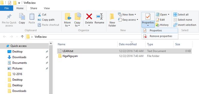 Mẹo ẩn file và thư mục trên Windows 10 ảnh 1