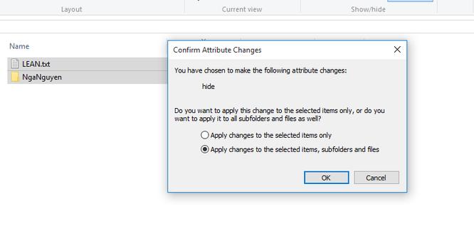 Mẹo ẩn file và thư mục trên Windows 10 ảnh 4