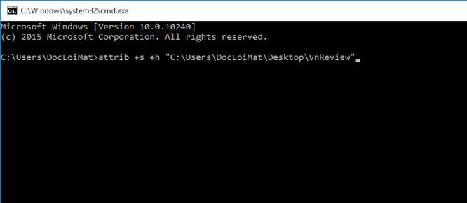 Mẹo ẩn file và thư mục trên Windows 10 ảnh 8
