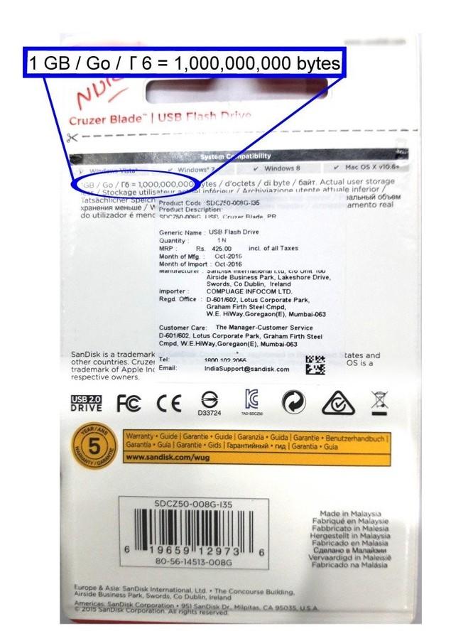 Tại sao ổ cứng/ USB không hiển thị đủ dung lượng như quảng cáo? ảnh 3