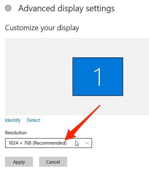 Cách thay đổi độ phân giải màn hình trên Windows 10 ảnh 3