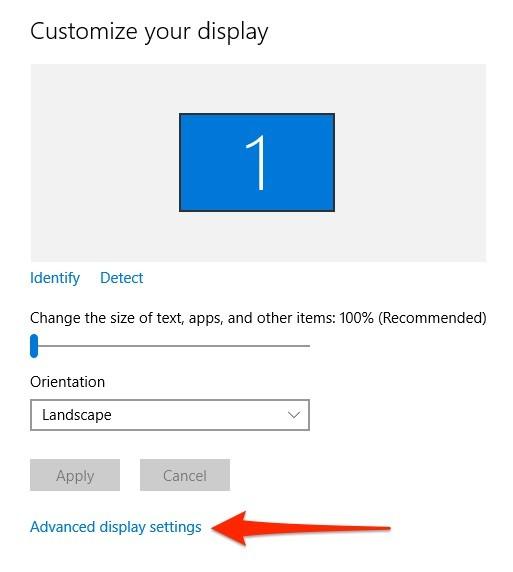 Cách thay đổi độ phân giải màn hình trên Windows 10 ảnh 2