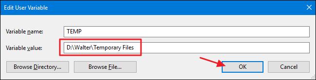 Mẹo di chuyển thư mục Temp của Windows sang ổ đĩa khác ảnh 5
