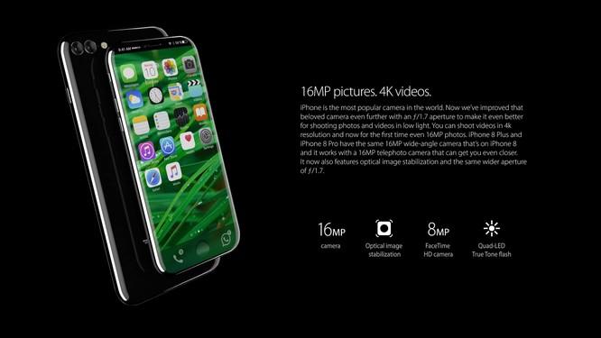 Bộ ảnh dựng tái hiện toàn bộ tính năng rò rỉ của iPhone 8 ảnh 1
